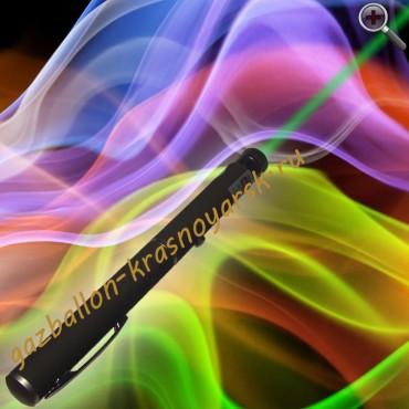 Зеленая лазерная указка 200 мВт с 4 насадками